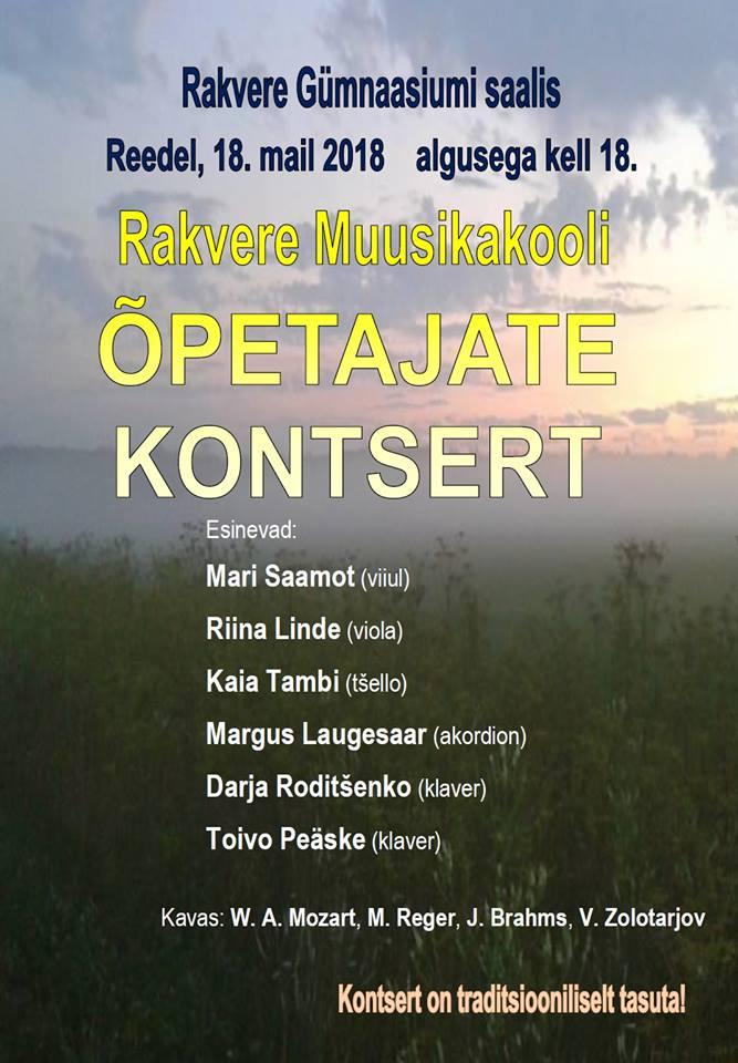 a1fab7f896c Rakvere Muusikakooli õpetajate kontsert 18.05 - Rakvere kultuurikeskus