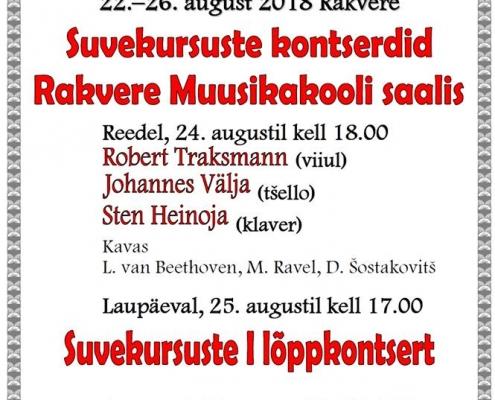 07834c97098 Suvekursuste kontserdid 22.-26. august